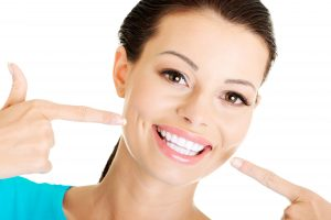 woman with beautiful white teeth